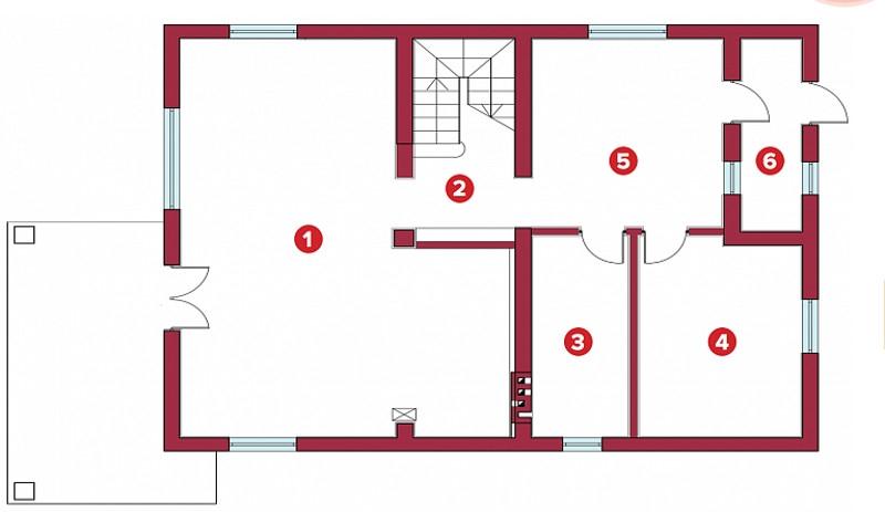 Планировка Дом площадью 196 кв.м в КП «Прайд»